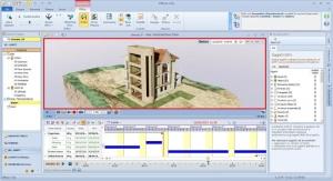 BIM 4D : Gantt - affichage -modélisation animée RTBIM - Edificius x