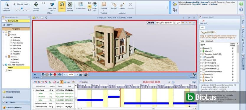 """BIM 4D : qu'est-ce que c'est et comment affecter la propriété """"temps"""" à un objet du modèle BIM Logiciel BIM Edificius"""