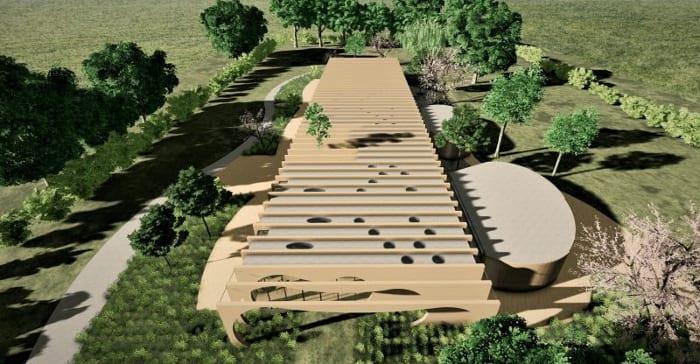 Crèche La Baleine -Rendu de la vue aérienne - logiciel BIM architecture Edificius