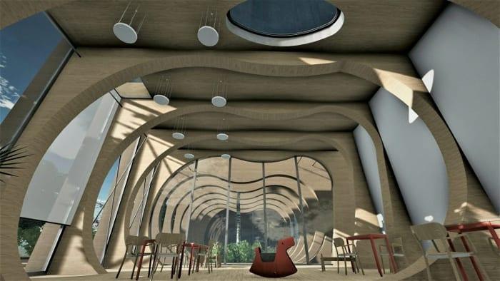 Détail crèche La Balena - Rendu projets bâtiments écoles -logiciel BIM architecture Edificius