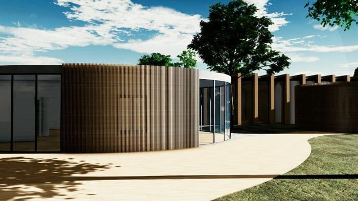 Extérieur école maternelle La Balena - Rendu projets bâtiments écoles - logiciel-BIM architecture Edificius