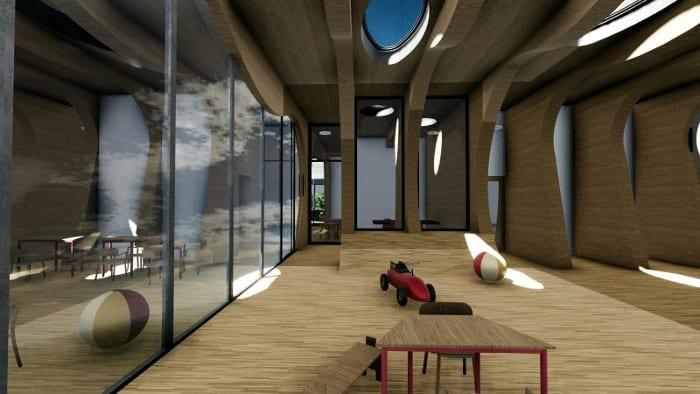 Intérieur de la crèche La Balena - Rendu projets bâtiment -écoles - logiciel BIM -architecture Edificius