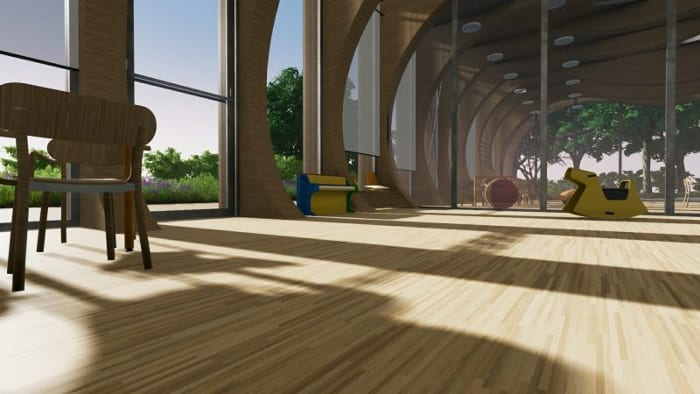 Matériaux crèche La Balena - Rendu projets - bâtiment écoles -logiciel BIM architecture - Edificius