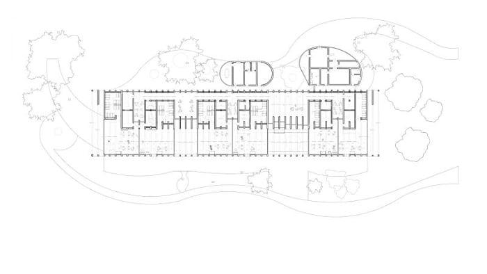 Plan de la crèche La Balena - Rendu projets de bâtiment écoles -logiciel BIM architecture Edificius