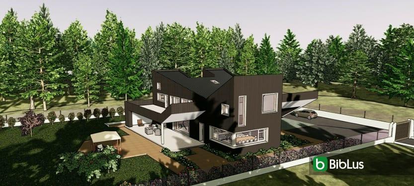 Projets de maisons unifamiliales à télécharger Logiciel BIM Edificius