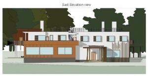 Villa Mairea : Perspective Est produite par lelogiciel BIM Edificius