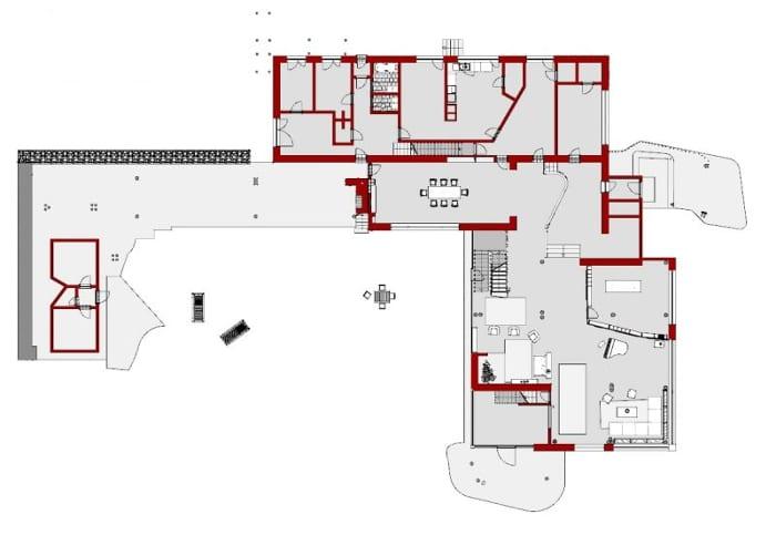 Villa Mairea:Rez-de-Chaussée - logiciel BIM Edificius