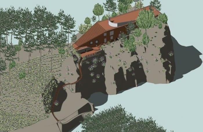Villa Malaparte -axonométrie - logiciel BIM d' architecture - Edificius