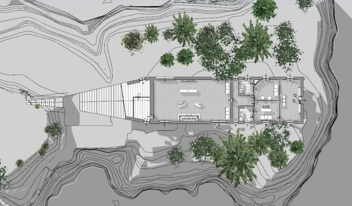Villa Malaparte - plandu premier étage - logiciel BIM d'architecture - Edificius