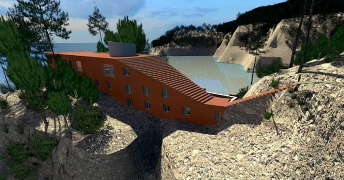 Villa Malaparte - rendu avec logiciel BIM d'architecture - Edificius