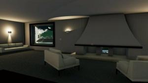 Villa Malaparte - rendu séjour - studio - logiciel BIM d'architecture -Edificius