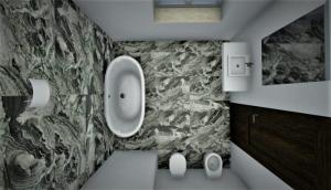 Villa Malaparte - salle de bain - renduavec logiciel BIM d'architecture - Edificius