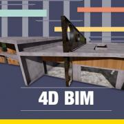 dimension 4D BIM - logiciel simulation et planification de la construction