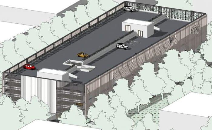 Axonométrie_projet-parking-DWG_logiciel-BIM-architecture-Edificius