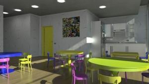 Cantine - projets de batiments scolaires -Troplo Kids - rendu BIM - Edificius
