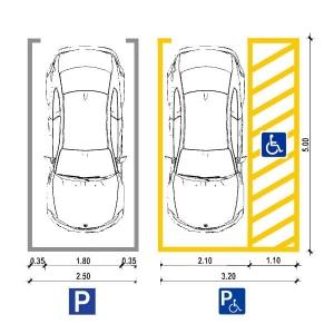 Dimension du parking