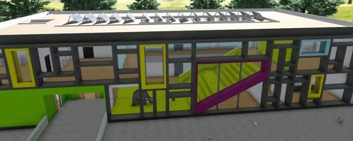 Extérieur arrière -Troplo Kids - rendu du logiciel BIM architecture Edificius