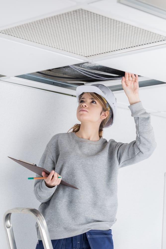 Faux-plafond inspectable