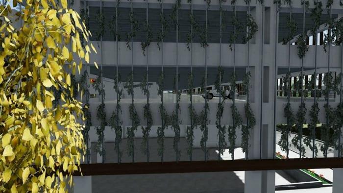 Parking Les yeux verts -Rendu du niveau -logiciel BIM architecture Edificius