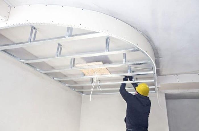 Réalisation de faux-plafond non inspectable