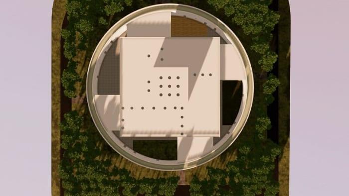 conception du centre pour l'enfance - école - vue aérienne - rendu Edificius