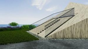 Crèche Raa: marches et escalier - rendu issu du logiciel BIM d'architecture Edificius