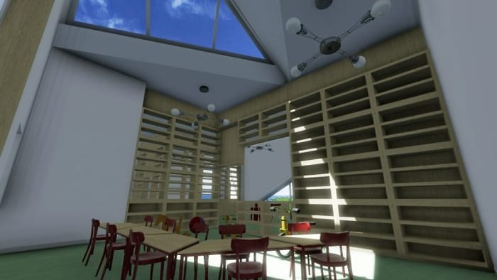 Crèche Raa - salle de classe - rendu du logiciel BIM pour l'architecture Edificius