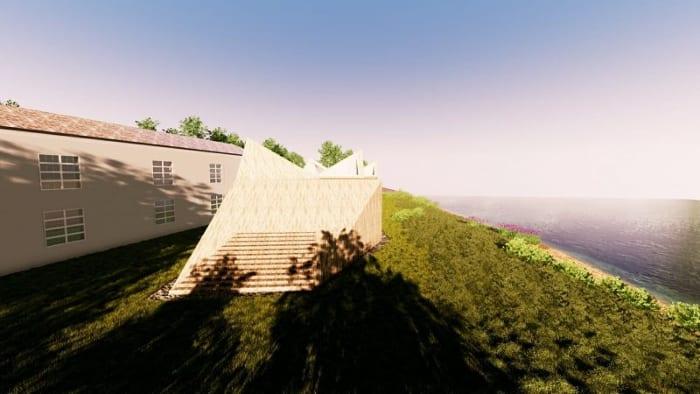 Crèche Raa: vue extérieur - Edificius