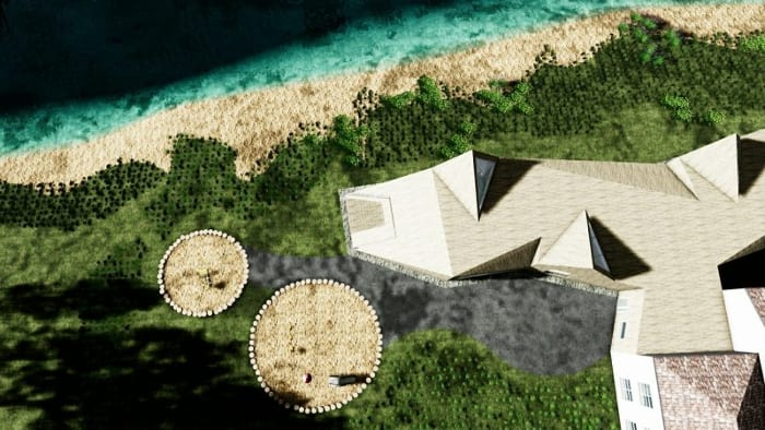 Crèche Raa: vue de zone - rendu logiciel BIM architecture Edificius