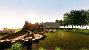 Crèche Raa - zone de jeux à l'extérieur -rendu du logiciel BIM Edificius