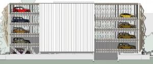 élévation Sud -conception de parking - logiciel BIM d' architecture Edificius