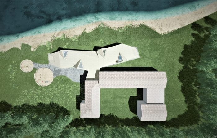 Exemple de bâtiment scolaire: Crèche Raa - plan - logiciel BIM architecture Edificius