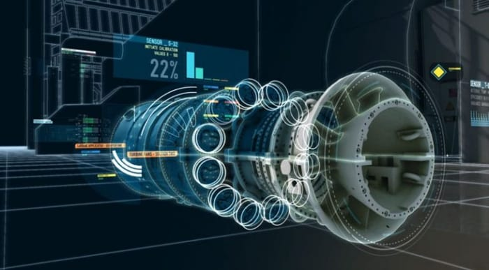 Jumeau numérique : une turbine