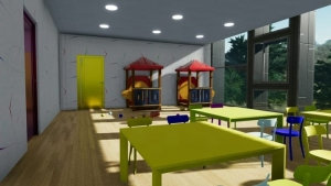 Laboratoire de projets de batiments scolaires - Troplo Kids - rendu produit avec Edificius
