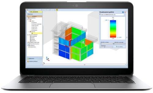 logiciel BEM sur un laptop