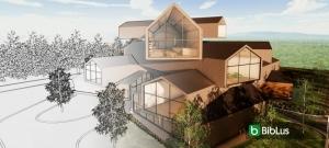 Conception d'un musée - conception d'architecture en dwg - En-tete