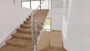 Conception escalier intérieur - croquis 2 -rendu - Edificius