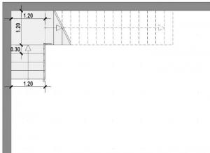 Conception d'escalier d'intérieur - escalier L - logiciel Edificius
