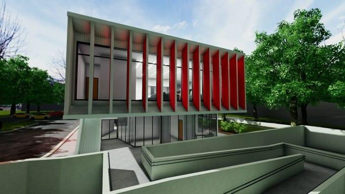 Harvey-Pediatric-Clinic_Façade_Rendu_Edificius_logiciel-BIM-architecture