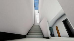 Harvey Pédiatrie Clinique - lucarne et escalier - Rendu d'Edificius - logiciel BIM architecture