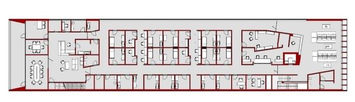 Clinique Harvey Pédiatrie -plan du premier étage -Edificius - logiciel BIM d'architecture