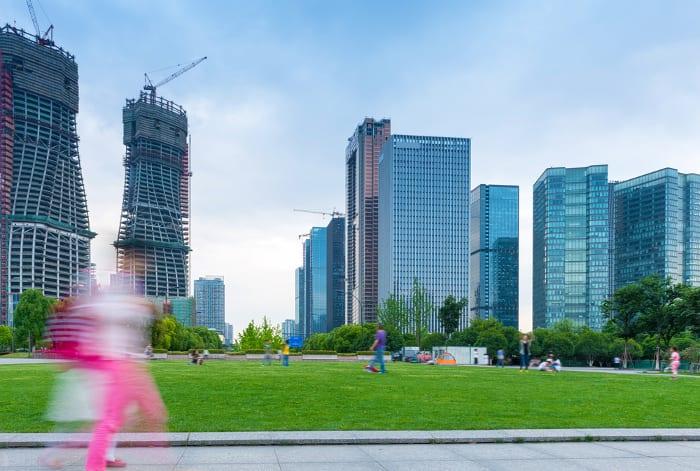 Construction moderne en Hangzhou