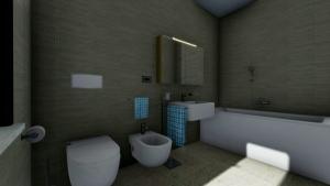 aménagement de salle de bain - rendu produit avec Edificius - logiciel BIM de conception architecturale 3D