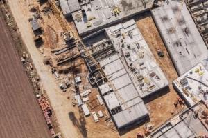 Photo aérienne d'un chantier