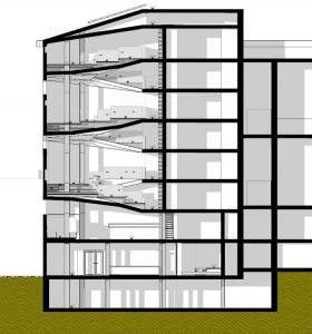 Coupe - conception d'une bibliothèque -logiciel BIM architecture Edificius