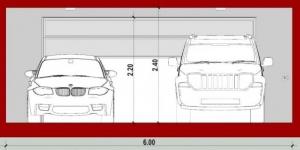 Double garage A-A -conception d'un garage -logiciel BIM Edificius