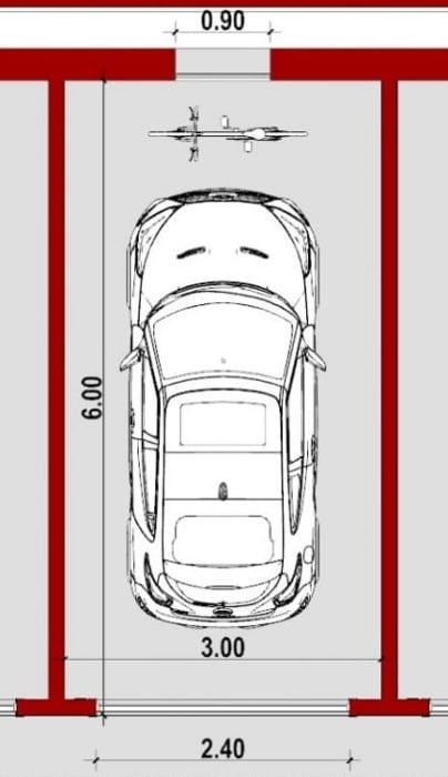 Garage standard - plan conception d'un garage -logiciel BIM Edificius