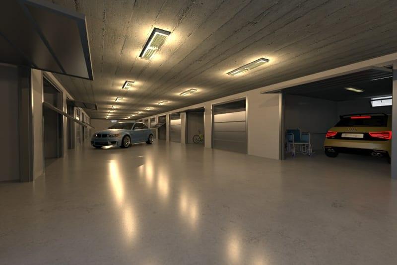 rendu de l-acces au garage - conception d-un garage -logiciel BIM Edificius