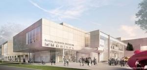 BIM Canada- un rendu extérieur de l'entrée du bâtiment du Royal Alberta Museum issu de Edificius logiciel de conception architectural