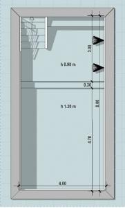 Conception de piscine de rééducation - plan issu du logiciel BIM architecture Edificius